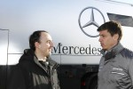 Robert Kubica with Mercedes Motorsport boss Toto Wolff  (Image credit: Daimler AG)