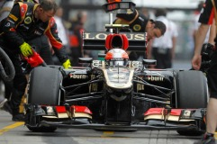 Romain Grosjean, 2013 Germany Grand Prix, Friday Practice (Image: Andrew Ferraro/Lotus GP)