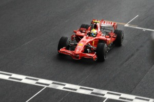 Massa wins in Brazil 2008. He came second in the title by a single point (Image: Ferrari)