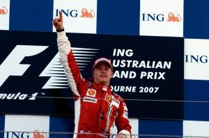 Kimi Raikkonen won his first race for Ferrari, the 2007 Australian Grand Prix (Image: Ferrari)