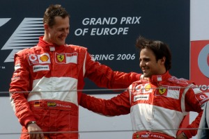 Massa's first team-mate at Ferrari was Michael Schumacher in 2006 (Image: Ferrari)