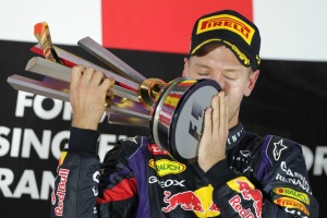Sebastian Vettel took a dominant victory for Red Bull in Singapore (Image: Pirelli)