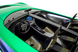 The cockpit of the AeroSeven concept (Image: Caterham F1)