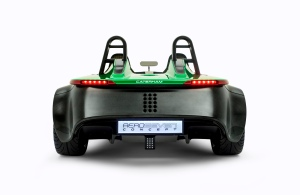 The rear end of the AeroSeven features a prominent diffuser (Image: Caterham F1)