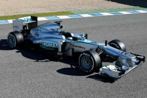 Launch photo of the Mercedes W04 in February 2013 (Mercedes)