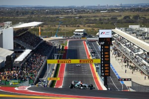 View of the climb up to turn 1 at the Circuit of the Americas (Image: Mercedes)