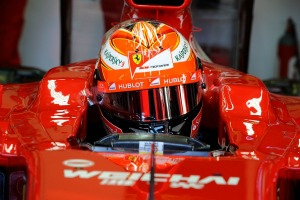 Kimi Raikkonen set the pace for Ferrari on day 1 of winter testing (Image: Ferrari)