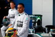 Hamilton and Rosberg with the new Mercedes W05 (Image: Mercedes AMG F1)
