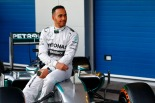 Lewis Hamilton with the Mercedes W05 (Image: Mercedes AMG F1)