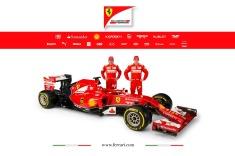 Fernando Alonso and Kimi Raikkonen with the Ferrari F14 T (Image: Ferrari)