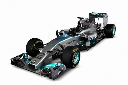 The new Mercedes W05 (Image: Mercedes AMG F1)