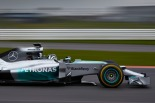 Nico Rosberg shakes down the Mercedes W05 at Silverstone (Image: Mercedes AMG F1)
