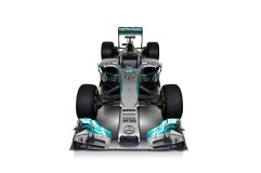Front view of the Mercedes W05 (Image: Mercedes AMG F1)