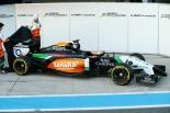 Sergio Perez and Nico Hulkenberg unveil the Force India VJM07 (Image: Force India F1 Team)