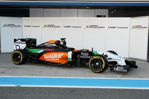 Launch of the Force India VJM07 (Image: Force India F1 Team)